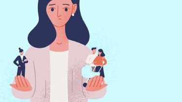 Illustration Frau zwischen Beruf und Karriere © Good_Studio/stock.adobe.com